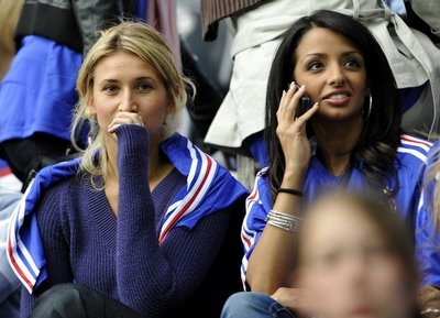 Tatiana Golovin watchingthe French squad in the European Championships at the Stade de Suisse Wankdorf in Bern