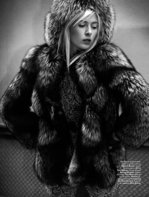 Maria Sharapova and lots of fur in Russian Vogue