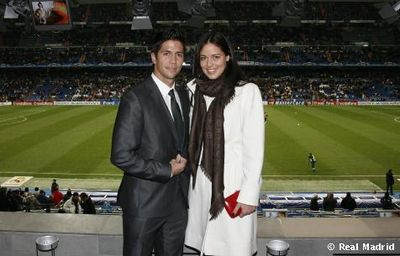 Ana Ivanovic and Fernando Verdasco at Real Madrid match