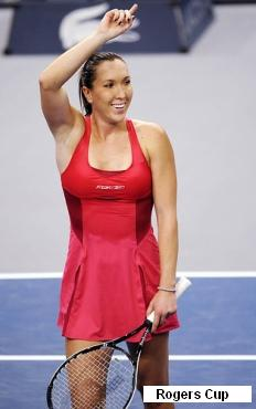 Jelena Jankovic red Reebok dress