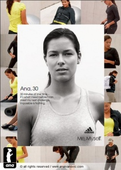 Ana Ivanovic in new adidas