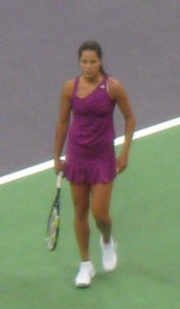 Ana Ivanovic in Fed Cup tie against Japan