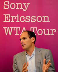 Larry Scott, Chairman and CEO of the Sony Ericsson WTA Tour