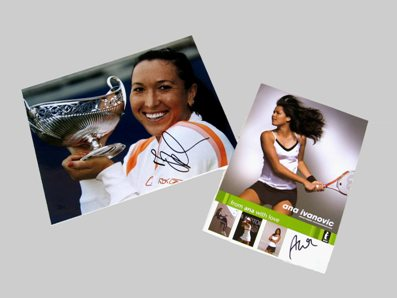 Win autographed picture of Jelena Jankovic and Ana Ivanovic