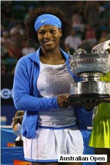 Serena Williams at the 2009 Australian Open