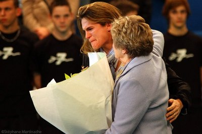 Tribute to Amelie Mauresmo in Paris