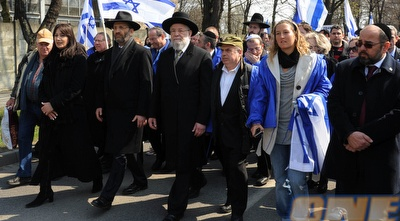 Shahar Peer marches for Auschwitz victims