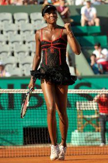 America's Venus Williams at French Open 2010