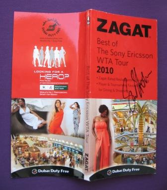 Win Zagat guide signed by Samantha Stosur