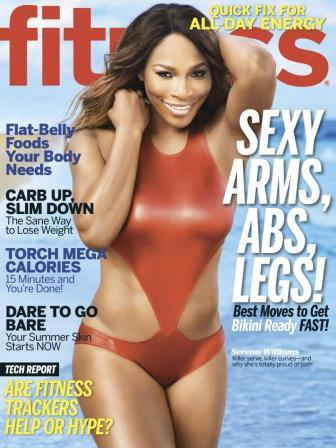 Serena on the Fitness Magazine cover