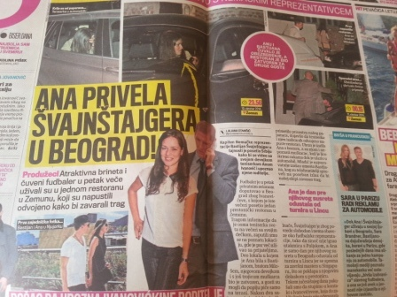 Ivanovic brings Schweinsteigner home, spotted dining out in Belgrade