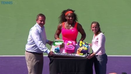 Serena Williams - 700 cake - Miami Open