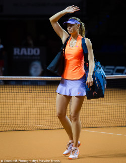 Atomic Pink Premier Maria Tennis Dress Elegance & haute couture: Maria Sharapova sets a new standard with ...