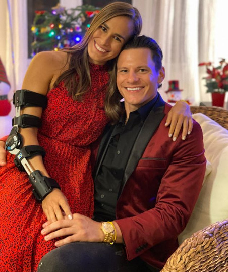 Monica Puig with boyfriend for Christmas